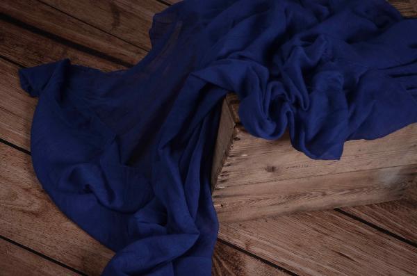 Wrap di mussolina blu elettrico