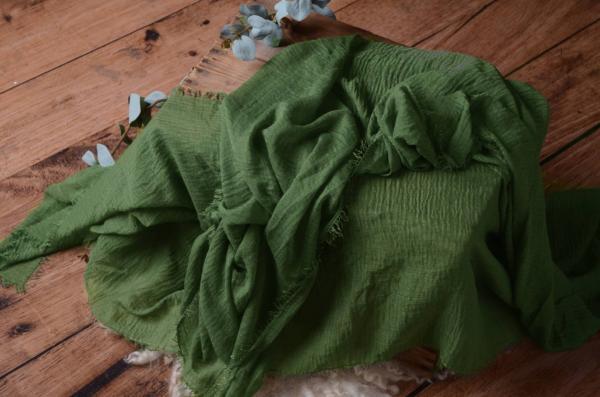 Wrap aus Baumwolle in Grün