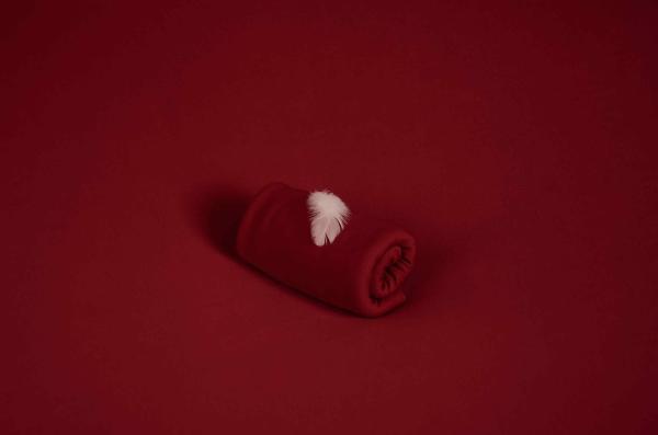 Tela di maglia bordeaux