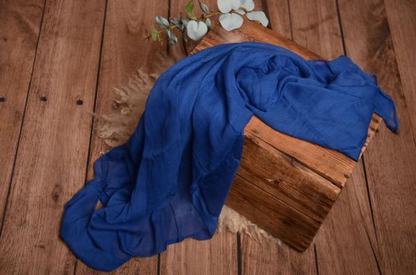 Wrap muselina azul