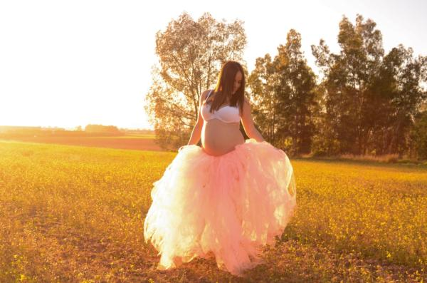 Gonna maternità in tulle