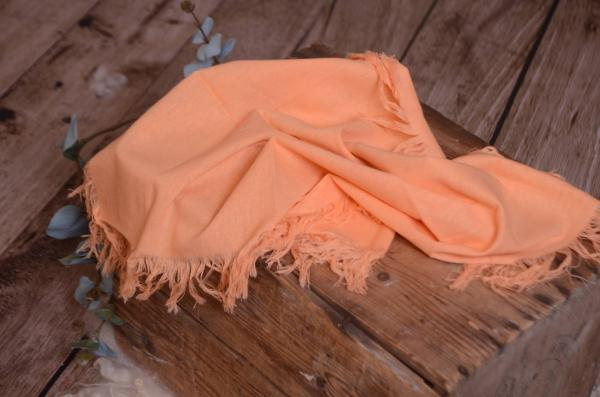 Tissu avec franges orange clair