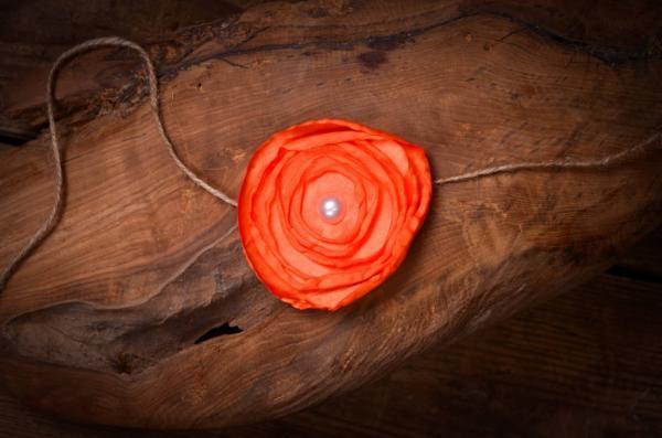 Serre-tête fleur orange
