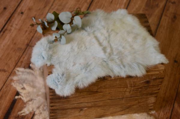 Light blue fur fabric