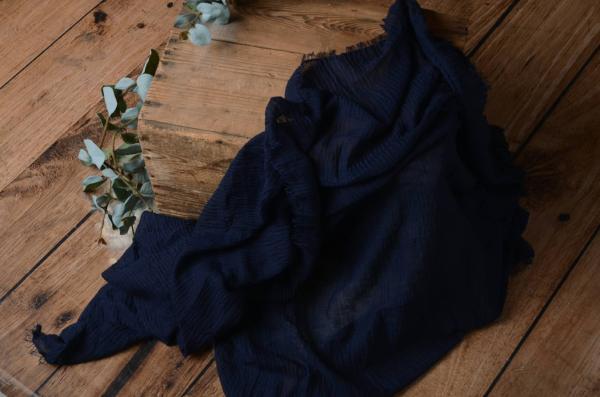 Wrap aus Baumwolle in Marineblau