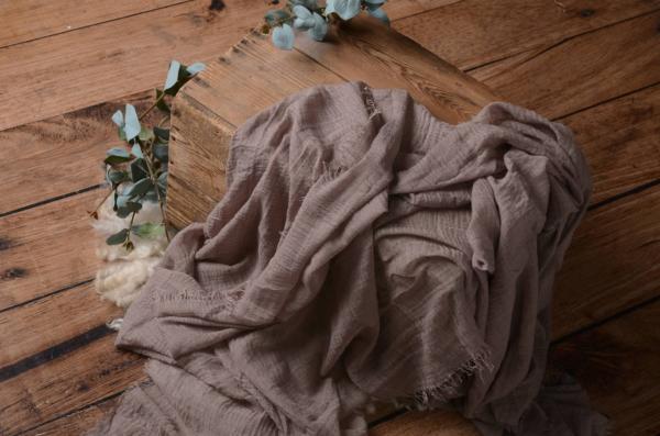 Wrap aus Baumwolle in rosenfarbiger Nerz