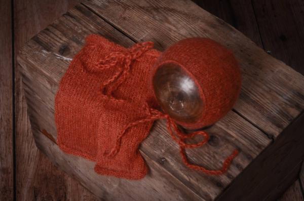 Conjunto de angora pantalón y gorro caldera