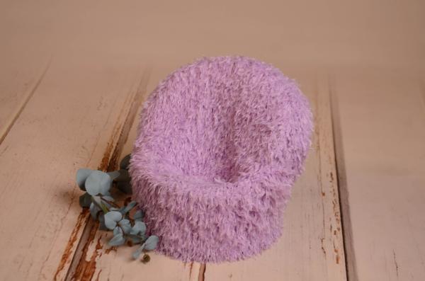 Taie de fauteuil avec plumes lilas