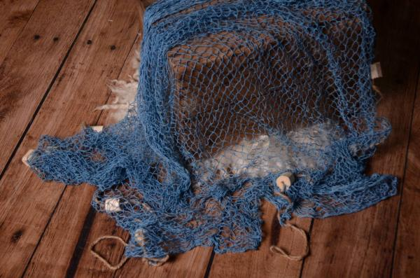 Red de pescador azul