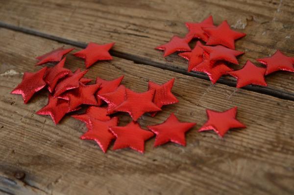 Stelle decorative rosso 3 cm