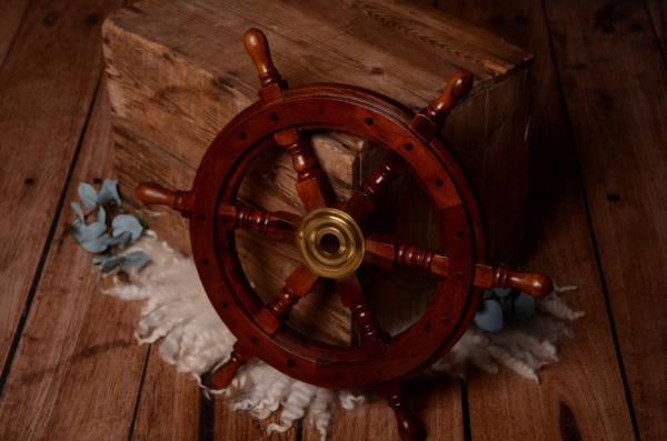Vintage marine rudder