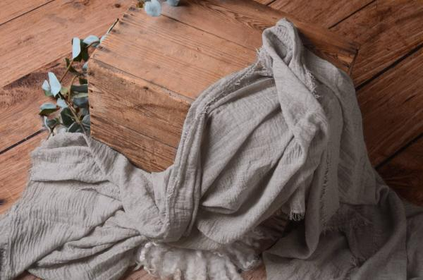 Wrap aus Baumwolle in Grau