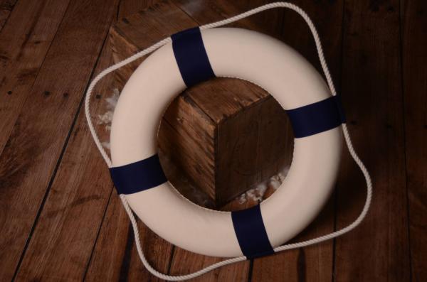 Salvavidas decorativo azul 50 cm