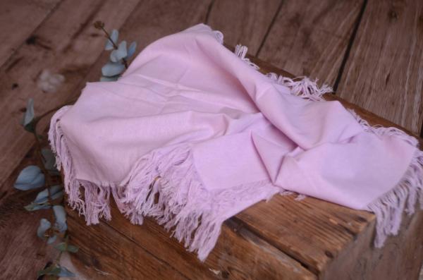 Tissu avec franges lilas