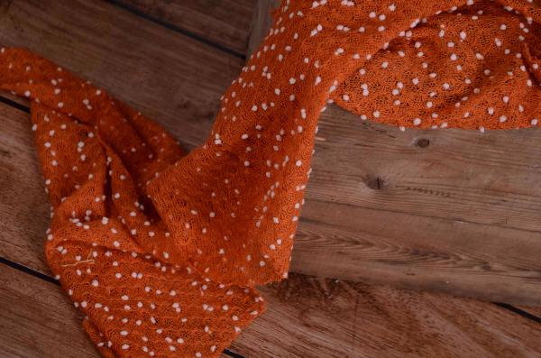 Orange tasseled wrap
