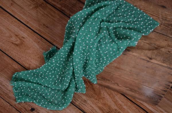 Emerald green tasseled wrap
