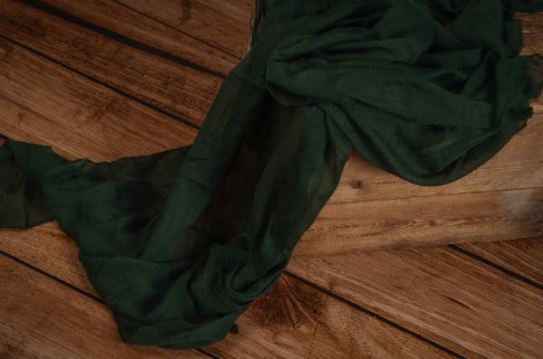 Wrap di mussolina verde scuro