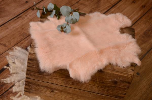 Baby pink fur fabric