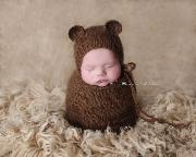 Brown ears hat