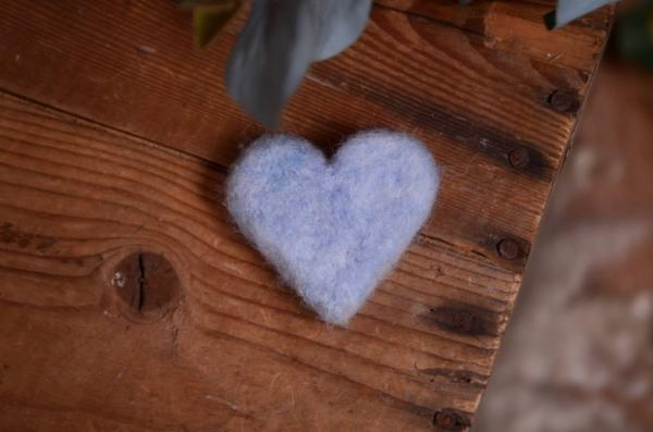 Light blue heart 4 cm