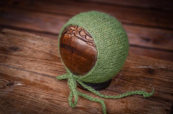 Bonnet mohair vert