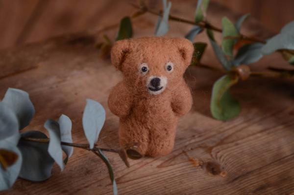 Petit ours en peluche camel 9 cm