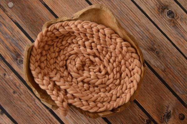 Trenza de lana camel claro