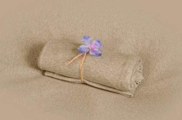 Speckled beige smooth fabric