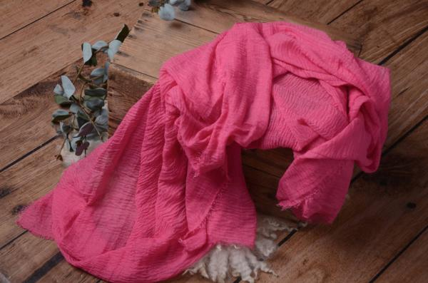 Wrap de algodón rosa fucsia