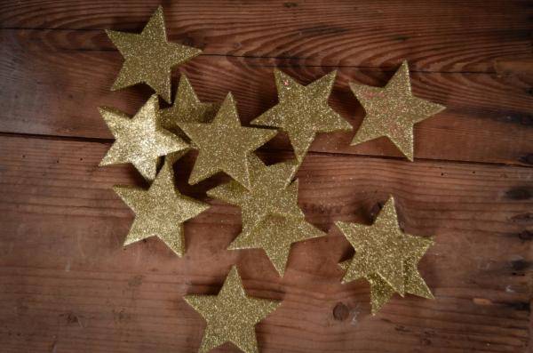 Decorative golden stars 6 cm
