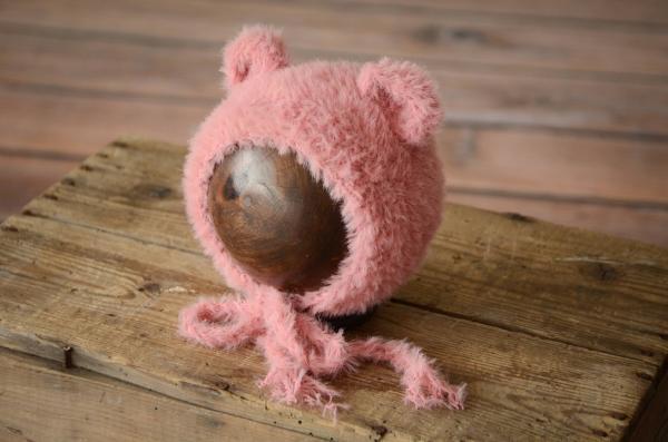 Pink hair ears hat