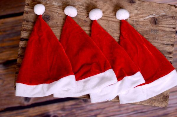 Pack 4 bonnets Père Noël