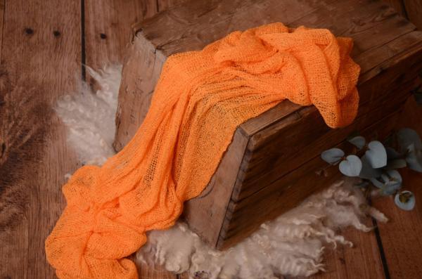 Wrap aus Zellwolle in Orange