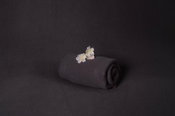 Dark grey polar fabric