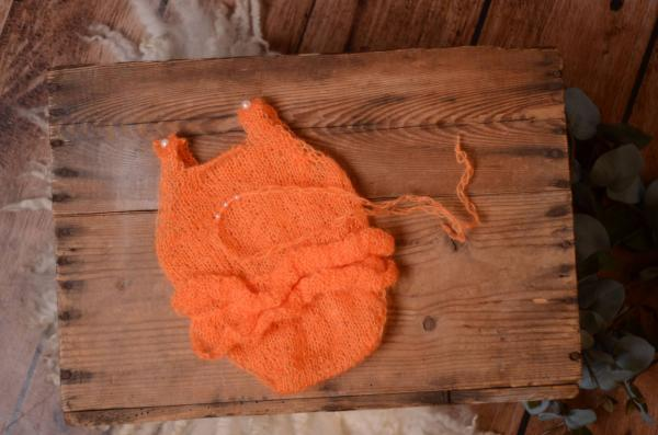 Corail ruffled mohair bodysuit and headband
