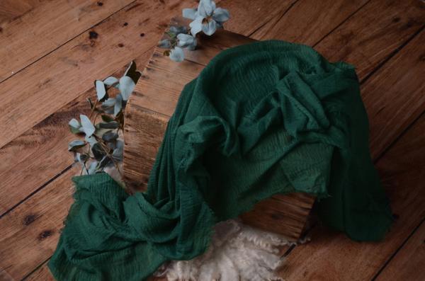 Wrap de algodón verde botella oscuro