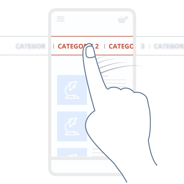 Horizontal mobile menu scroll