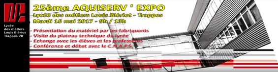 25ème AQUISERV EXPO -Trappes (78) - Lycée des Métiers Louis Blériot