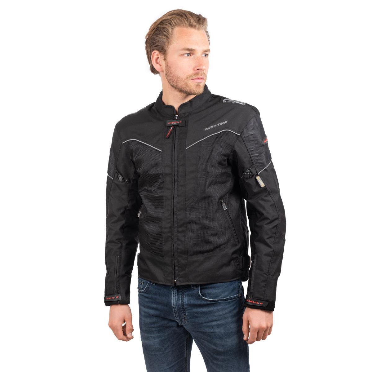 Blouson de Moto Homme Urban Summer Rider-Tec Textile Noir & Gris