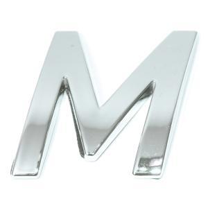 Lettre ''M'' 3D autocollante chromée
