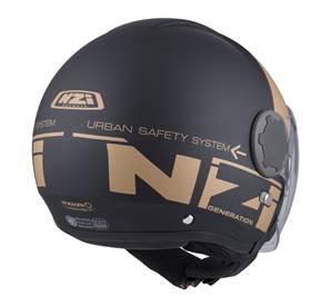NZI - Casque Moto, Scooter Jet - RINGWAY DUO - Noir Or Mat