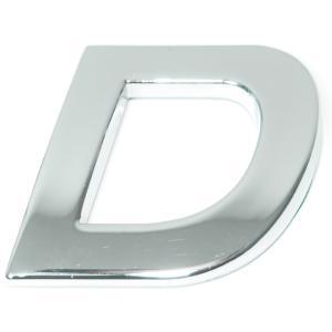 Lettre ''D'' 3D autocollante chromée