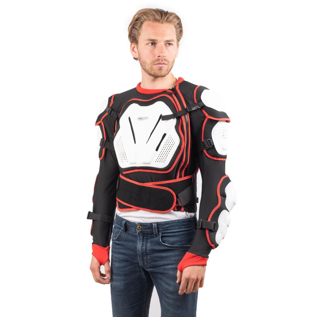 Armure de Protection Unisexe Cross Shield Rider-Tec Noir et Rouge
