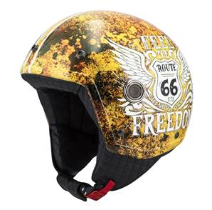 NZI - Casque Moto, Scooter Demi-Jet - TONUP GRAPHICS - Multicolore brillant