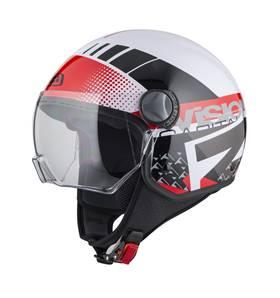 NZI - Casque Moto, Scooter Demi-Jet - CAPITAL VISION - Multicolore brillant