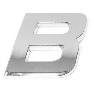 Lettre ''B'' 3D autocollante chromée