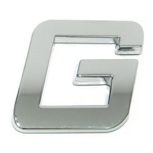Lettre ''G'' 3D autocollante chromée