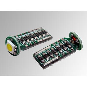 Ampoules à LEDs T10 CMS blanches 2W