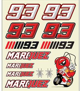 Mm93 Big Size Stickers
