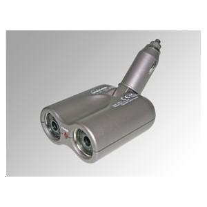 Double prise allume-cigare fixe LED